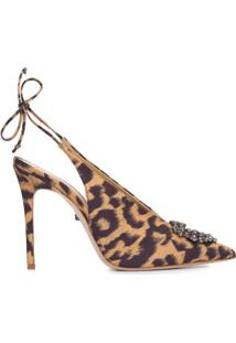 Scarpin Slingback Leopard Schutz - Animal Print