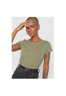 Camiseta Basicamente. Lisa Verde