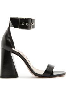 Sandália Salto Cone Gloss Black | Schutz