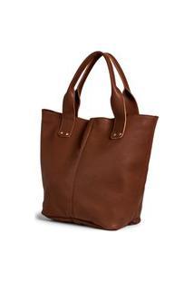 Bolsa Shopper Clube Do Sapato De Franca Belaju Bag 01 Chocolate