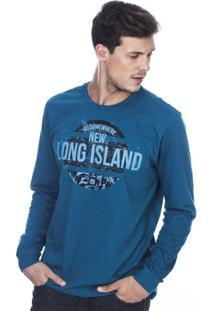 Camiseta Manga Longa Long Island New Masculina - Masculino