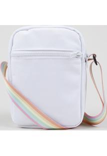 Bolsa Shoulder Bag Masculinatransversal Pequena Pride Com Bolso Branca