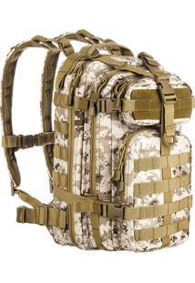 Mochila Tática Invictus Assault 30 Litros Com Sistema Molle Camuflado Digital Deserto