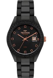 R  429,90. Zattini Relógio Preto Feminino Technos Manual Riviera ... 61b3a47b39