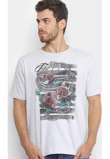 Camisetas Fatal Rosas Serpente Masculina - Masculino