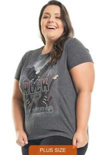 T-Shirt Rocker Cinza