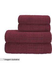 Toalha De Rosto Pixel- Vermelha- 45X70Cm- Camesacamesa