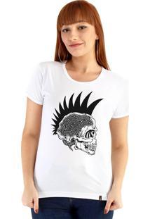 Blusa Ouroboros Caveira Punk Branco