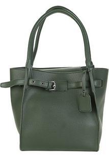 Bolsa Shoestock Handbag Belt Feminina - Feminino-Verde