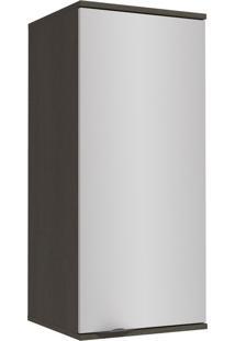 Armário Aéreo Cozinha 40 Cm Nox 1 Porta H781 Onix/Steel - Kappesberg