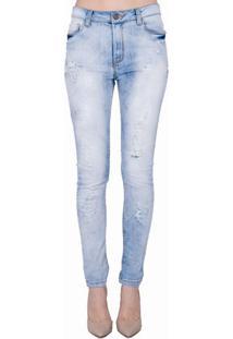 Calça Jeans Skinny Marmorizada Handbook
