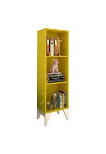 Livreiro Twister Amarelo/Branco Tcil Móveis