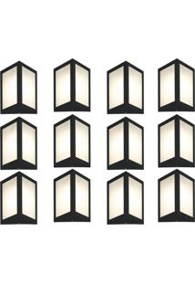 Arandela Triangular Preto Kit Com 12 Casah - Preto - Dafiti