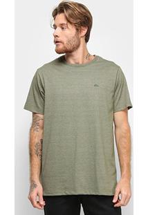 Camiseta Quiksilver Chest Embroidery Color Masculina - Masculino-Verde+Branco