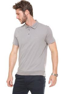 Camisa Polo Mr Kitsch Listras Cinza