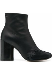 Mm6 Maison Margiela Ankle Boot Com Salto 90Mm - Preto