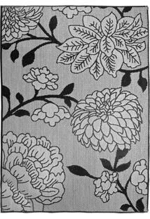 Tapete Sisllê Floral Vi Retangular Polipropileno (133X190) Preto