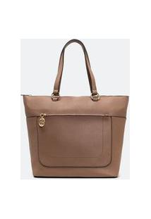 Bolsa Modelo Shopper Floater | Satinato | Marrom | U