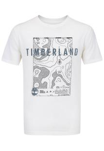 Camiseta Timberland Singature Maps - Masculina - Bege