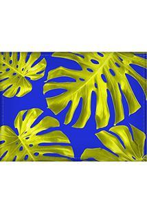 Jogo Americano Diferente, Criativo, Moderno   Folha Costela De Adão Dourada - Tamanho 30 X 40 Cm