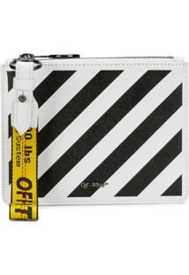 Off-White Clutch 'Diag Double' - Branco