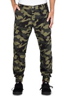 Calça Alfa Sarja Jogger Camuflada - Masculino