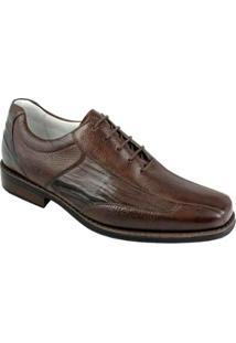 Sapato Social Couro Sandro & Co. Masculino - Masculino-Marrom Escuro