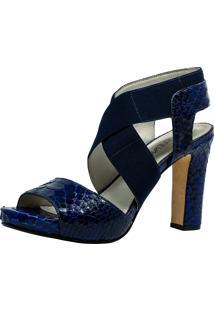 Sandália Veleno Python Azul-Marinho