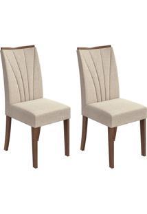 Conjunto Com 2 Cadeiras Apogeu Lll Imbuia E Bege