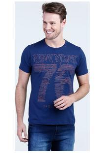 Camiseta Masculina Estampa Frontal Manga Curta Águia Tex