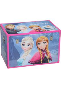 Baú Frozen®- Azul & Pink- 40X60X40Cm- Mabrukmabruk