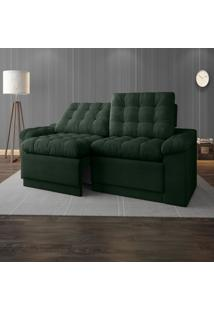 Sofã¡ 4 Lugares Net Confort Assento Retrã¡Til E Reclinã¡Vel Verde 2,20M (L) - Verde - Dafiti
