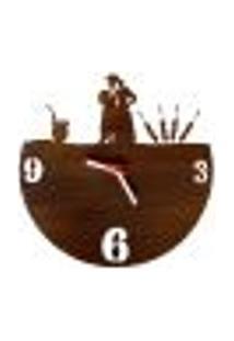 Relógio De Parede Decorativo - Modelo Tradição Gaúcha
