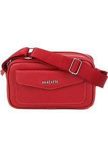 Bolsa Anacapri Mini Bag Pqn Ravena Feminina - Feminino-Vermelho Escuro