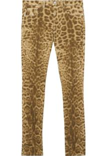 Burberry Calça Jeans Reta Com Animal Print - Neutro