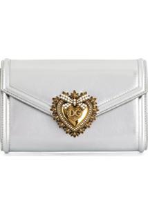Dolce & Gabbana Pochete Devotion - Prateado