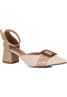 Sapato Scarpin Zariff Aberto Salto Geométrico