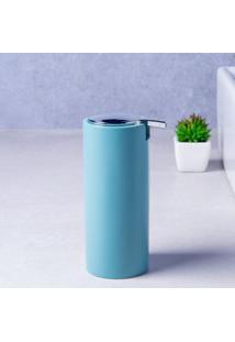 Porta Sabonete Líquido De Bancada Plástico Azul Aqua Coisas E Coisinhas