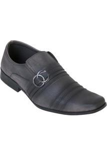 Sapato Social Cinza Com Elástico