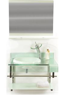 Gabinete De Vidro 70Cm Para Banheiro Turquia Branco Ekasa
