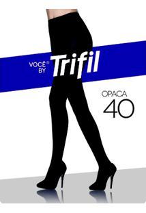 Meia-Calça Feminina Trifil Fio 40 - Feminino-Preto