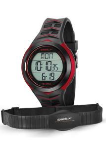 Kit De Relógio Digital Speedo Masculino + Monitor Cardíaco - 80621G0Evnp1 Preto - Único