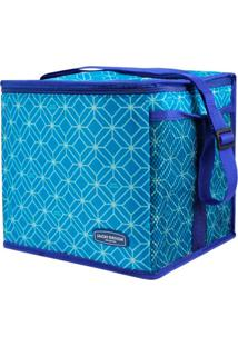Bolsa Térmica Feminina Grande Jacki Design Praia Piquenique Azul