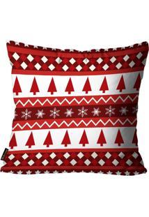 Capas Para Almofada Premium Cetim Mdecore Natal Arvore De Natal Vermelha 45X45Cm - Tricae
