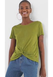 Blusa Cantão Torção Verde