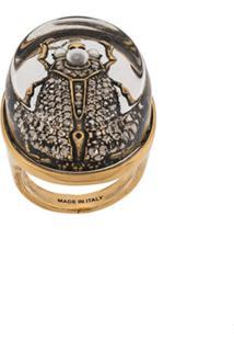 Alexander Mcqueen Anel Beetle - Dourado