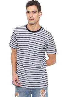Camiseta Rvca Outer Sunset Branca/Azul