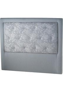 Cabeceira Solteiro Classic Flórida-Sono Design - Cinza Floral