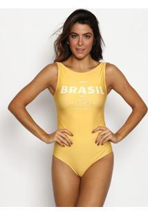 "Maiã´ Tradicional ""Brasil""- Amarelo & Amarelo Claro- Cia MarãTima"
