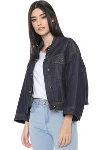 Jaqueta Jeans Colcci Ampla Azul